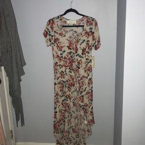Floral high low shirt